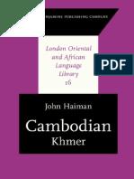 Prof. John Haiman Cambodian Khmer 2011