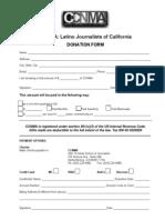 CCNMA donation form 2013