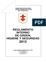 Reglamento de Orden Higiene y Seguridad 2012
