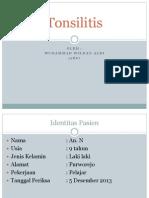 Refleksi Kasus Tonsilitis