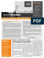 Automne/hiver 2013 — Bulletin parlementaire de Tyrone Benskin, version française