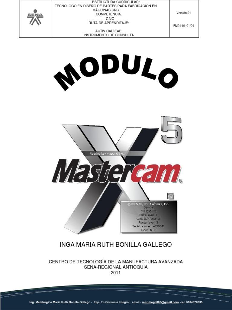 tuto mastercam x5 rh es scribd com Mastercam Training Mastercam Simulator