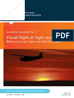 Visual flight at night accidents