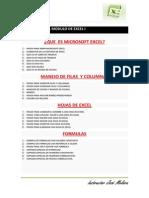 Temario de Excel i