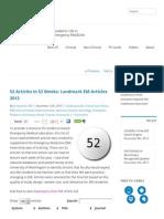 Academic Life in Emergency Medicine 52 Articles in 52 Weeks_ Landmark EM Articles 2013 - Academic Life in Emergency Medicine