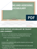 Presentation on teaching Vocabulary