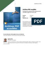 Archivos PDF Accesibles