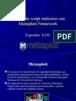 Generando Script Malicioso Con Metasploit Framework