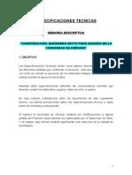 ESPECIFICACIONES TECNICAS BAÑADERO 2009