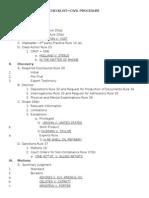 Civ Pro Checklist