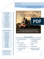 Newsletter - August 28, 2009