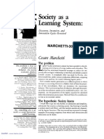 Society as a Learning System - Cesare Marchetti