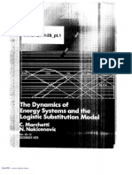 The Dynamics of Energy Systems and the Logistic Substitution Model - Marchetti and Nakicenovic (Part 1 of 2)