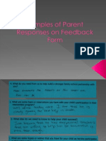 samples of parent responses on feedback form