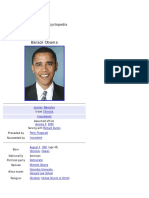 Barack Obama (Wikipedia Biography)