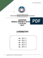 Answer Chem p Score x a Plus Module 2013