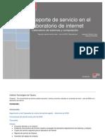 Reporte de Servicio en El Lab Oratorio de Internet 2009