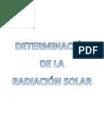 Determinacion de La Radiacion Solar