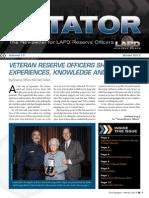 LAPD Reserve Rotator Newsletter Winter 2013