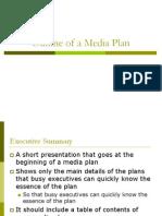 Outline of aOutline of a Media Plan Media Plan