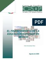 DDL039 El Financiamiento de La Educacion Superior en Mexico