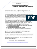 Consumer  And Commercial  Micro Small Ticket Financing and Leasing