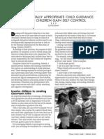 developmentally appropriate child guidance