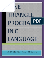 NINE Triangle Programs in C Language - SharadKgupta