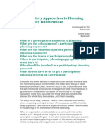 Participtory Planning