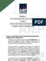Lectura Tema 3 Evaluaciones Diagn Sticas Formativas y Sumativas