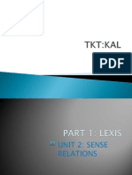 TKT KAL Unit 1 Part 2 Sense Relations