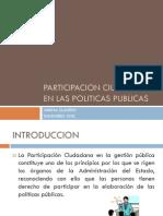 Participacion Ciudadana en Las Politicas Publicas