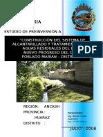Perfil Saneamiento Barrio Nuevo Progreso - Independencia
