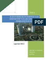 Kajian Kebijakan Insentif Dan Disinsentif Tata Ruang dalam Pembangunan Nasional