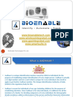 Aadhaar Overview by Bioenable