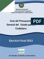 Guia Del Presupuesto Para El Ciudadano 2013