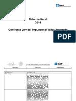 Confronta Ley Del Impuesto Al Valor Agregado 2014 vs 2013