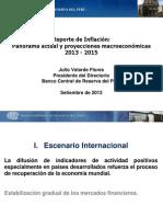 Reporte de Inflacion Setiembre 2013 Presentacion
