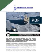 La hegemonía energética de Rusia en severo peligro