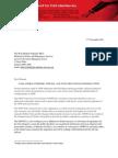 2013 NSWCCL Letter - CSG protestors case - Police Minister