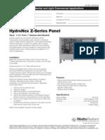 Watts Radiant HydroNex Specification Z-Series Panels