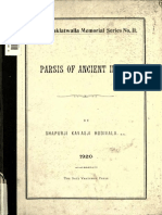 Parsis of Ancient India (1920)