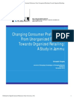 Changing Consumer Preferences From Unorganized Retailing Towards Organized Retailing