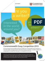Commonwealth Essay Competition Poster 2013