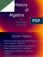 The History of Algebra