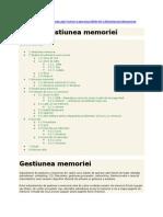 Gestionarea memoriei sistemului de calcul
