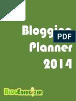 2014 Blogging Planner