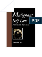 Malignant Self Love Narcisism Revisited