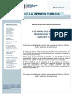 Intención de voto presidencial (NACIONAL) JUNIO 2011 (no publicable)