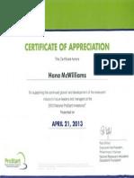 prostart invitational certificate